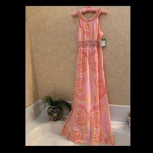 Lilly Pulitzer Long Butterfly Sundress NWT